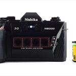 Nishika 3D N8000 (with 35mm cassette for scale)