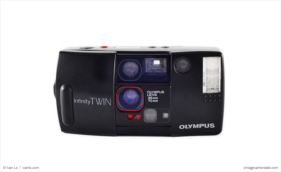 Olympus Infinity Twin (front view, open)