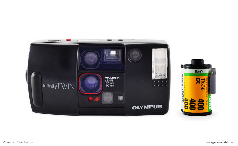 Olympus Infinity Twin (with 35mm cassette for scale)