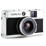 Olympus Pen EED (three-quarter view)