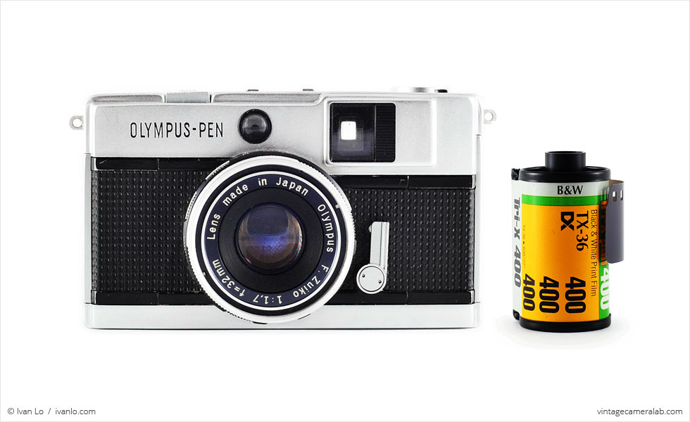 Olympus Pen EED (with 35mm cassette for scale)