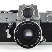 Petri Flex 7 (front view, with Petri Automatic 55mm f/1.8}