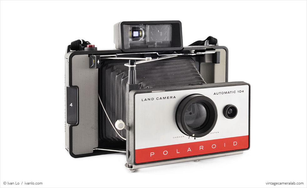 Polaroid Land Model 104 (three quarters, open)