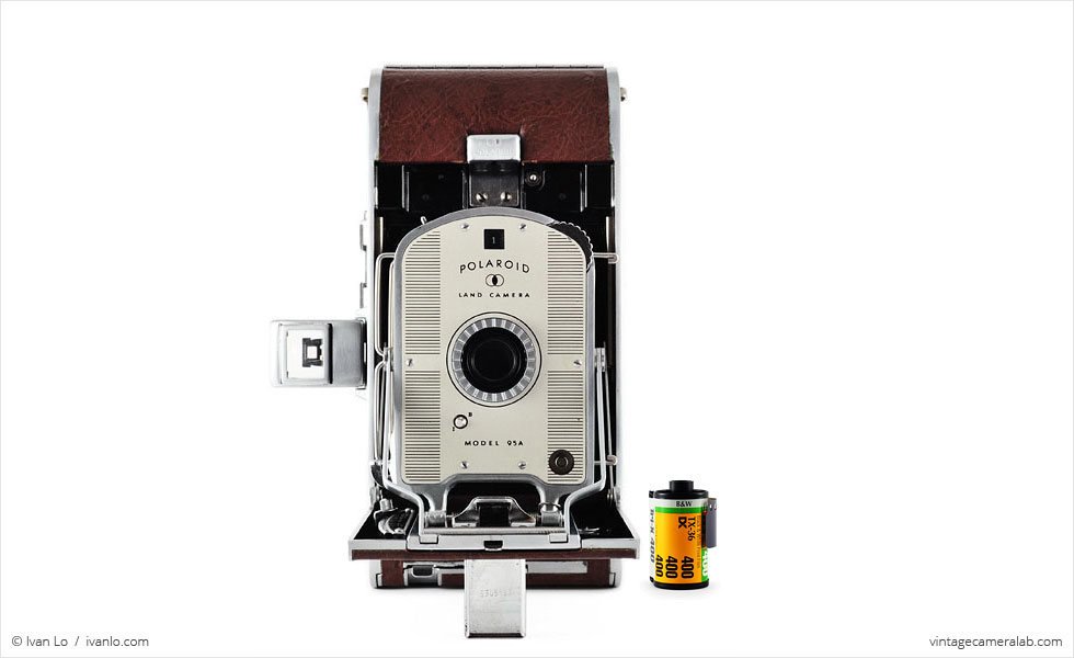 Polaroid Land Model 95A (with 35mm cassette for scale)