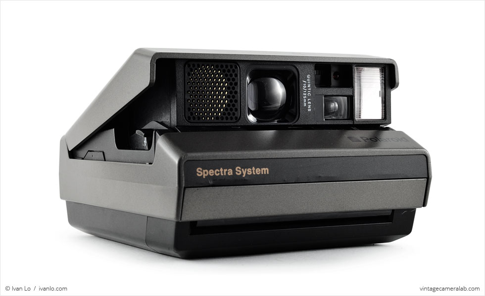Polaroid Spectra (three-quarter view)