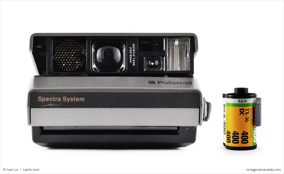 Polaroid Spectra (with 35mm cassette for scale)