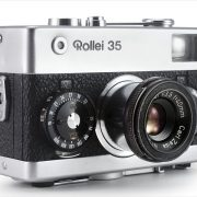 Rollei 35 (three-quarter view, open)
