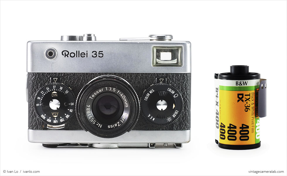 Rollei 35 (with 35mm cassette for scale)