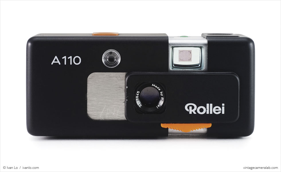 Rollei A110 (front view, open)