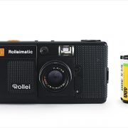 Rollei Rolleimatic (with 35mm cassette for scale)