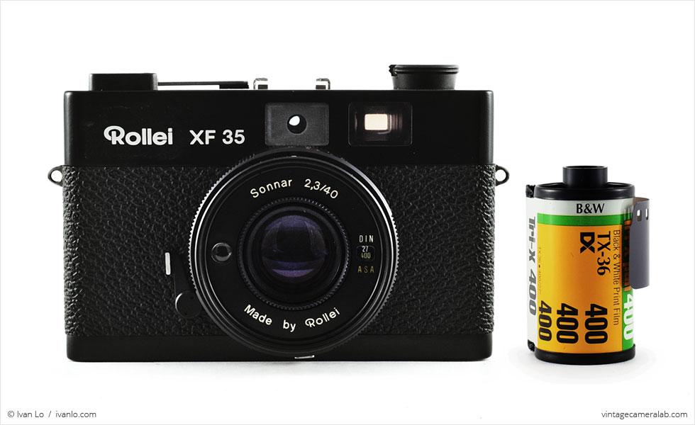 Rollei XF 35 (with 35mm cassette for scale)