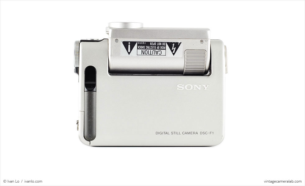 Sony DSC-F1 (front view, lens rotated 90°)