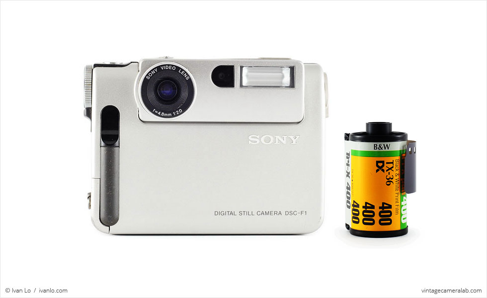 Sony DSC-F1 (with 35mm cassette for scale)