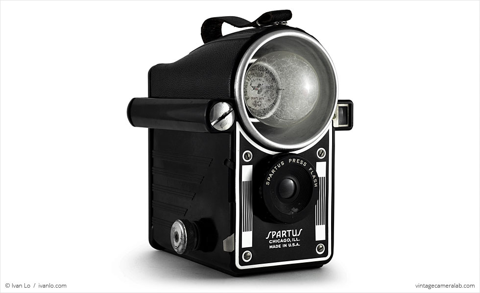 Spartus Press Flash (three-quarter view)