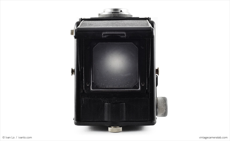 Spartus Spartaflex (top view, viewfinder open)