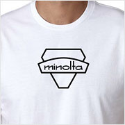 Buy a vintage Minolta logo T-Shirt on Vintage Camera Lab