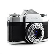 Read about the Zeiss Ikon Contaflex I camera on Vintage Camera Lab