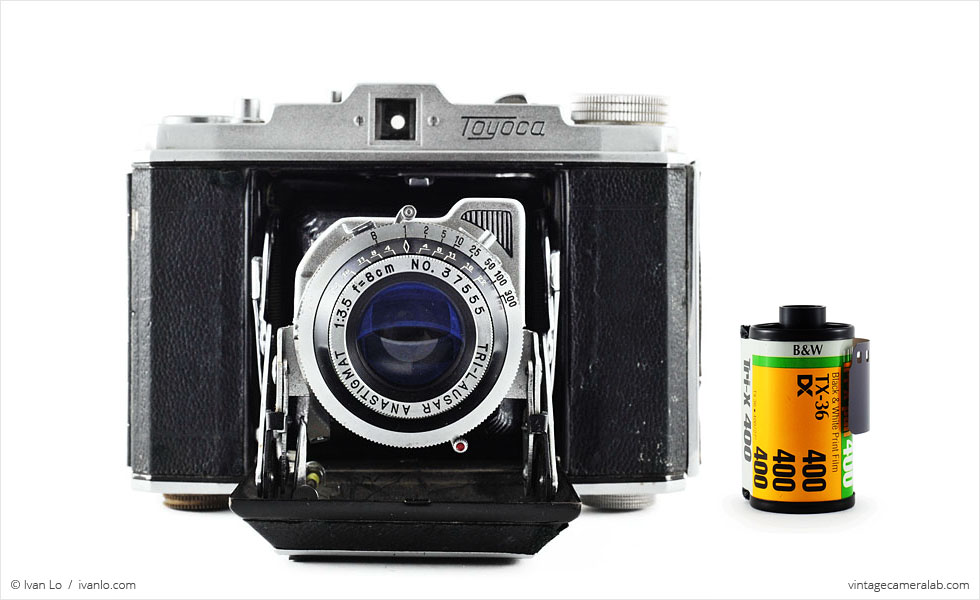 Toyoca Six (with 35mm cassette for scale)