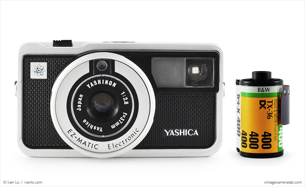 Yashica EZ-Matic Electronic (with 35mm cassette for scale)