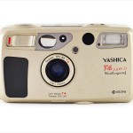 Yashica T4 Super D (front view, open)